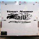 Your Team Name Racing Enclosed Trailer Vinyl Stickers Decals Graphics FREE SHIPPING GK001