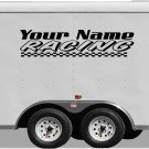 Your Team Name Racing Enclosed Trailer Vinyl Stickers Decals Graphics FREE SHIPPING B031