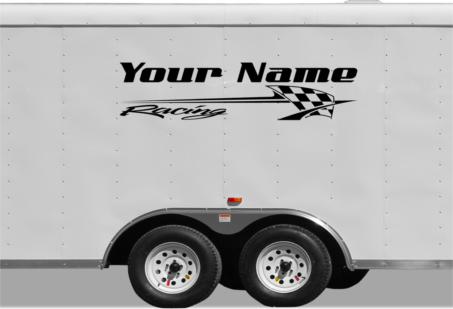 Your Team Name Racing Enclosed Trailer Vinyl Stickers Decals Graphics FREE SHIPPING B035