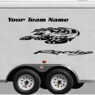 Your Team Name Racing Enclosed Trailer Vinyl Stickers Decals Graphics FREE SHIPPING YT19