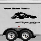 Your Team Name Racing Enclosed Trailer Vinyl Stickers Decals Graphics FREE SHIPPING YT005