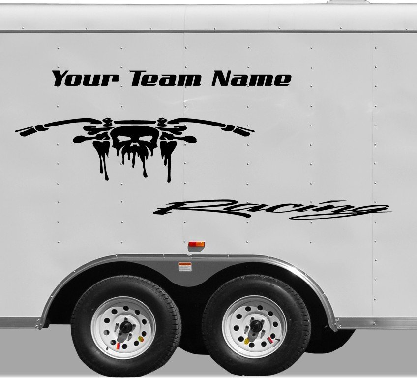 Your Team Name Racing Enclosed Trailer Vinyl Stickers Decals Graphics FREE SHIPPING YT44