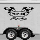Your Team Name Racing Enclosed Trailer Vinyl Stickers Decals Graphics FREE SHIPPING YT101
