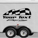 Your Team Name Racing Enclosed Trailer Vinyl Stickers Decals Graphics FREE SHIPPING YT103