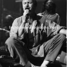 Musician Phil Collins of Genesis 8x10 Black & White Concert Photo