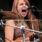 """Givers Singer & Percussionist Tiffany Lamson 8""""x10"""" Color Concert Photo"""