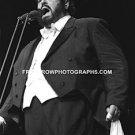 "Singer Luciano Pavarotti 8""x10"" BW Concert Photo"