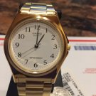 Casio Medium Unisex size white face gold Tone Brand New w/ easy to Read numbers