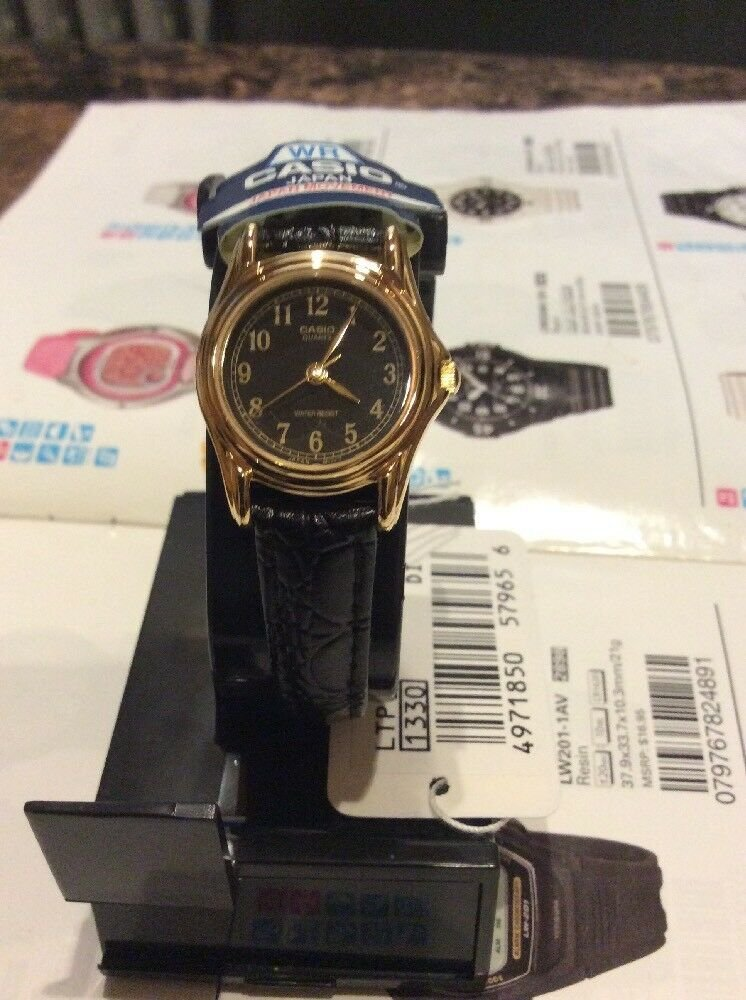 Casio Extra small  Watch Black Color For Ladies Brand new