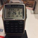 CASIO Databank Calculator Watch DBC32D-1 DBC32  25 memory NEW  METAL BAND