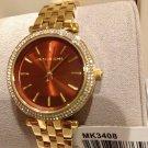 Michael Kors Darci MK3408 Wrist Watch for Women - Brown/Gold Free Box/ship