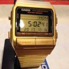 Casio DB380G-1DF Gold Multi-Lingual Casual Digital Watch w/ Databank Alarm Date