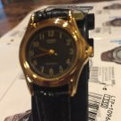 Casio Extra small  Watch Black Leather Band Black  Face New w/ tag ltp-1096q-1b