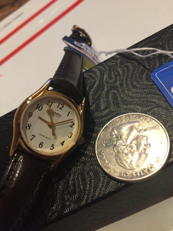 LTP-1094Q-7B5 100% Genuine Casio  Leather Watch  Water Resistant Women's