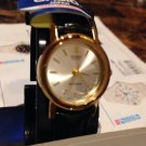Casio Extra small  Watch Black Band Shiny face  gold to tone brand New w/ tag