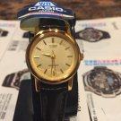 Casio Extra small  Watch Brown Band Color Gold Tone New w/ Tag Ltp 1095q 9a
