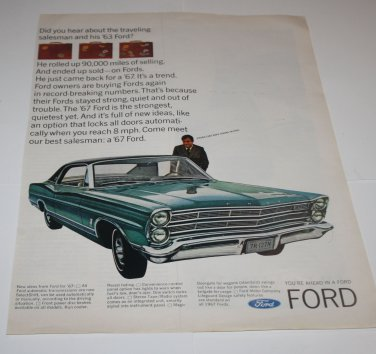 Vintage LIFE Magazine Advertisement Ad - Ford Car,1960s