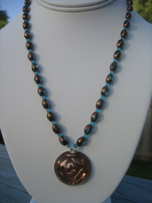 Copper Rose with Teal