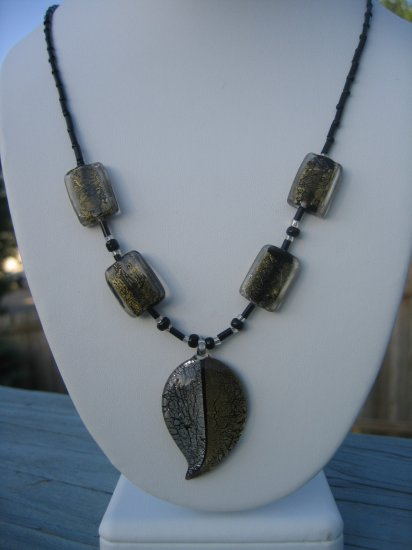 Silver and Gold Glass Leaf