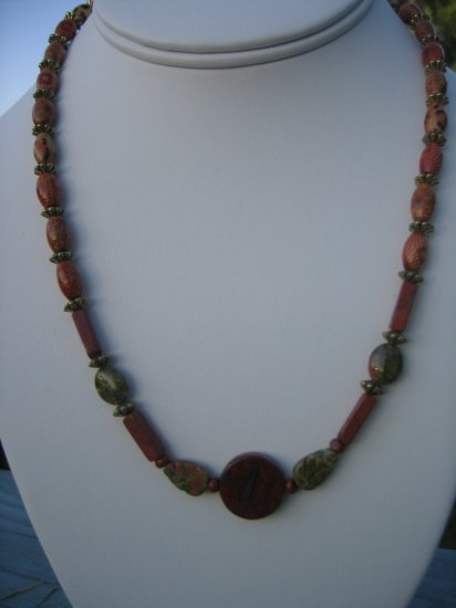 Poppy Jasper and Wood with golf flower accents