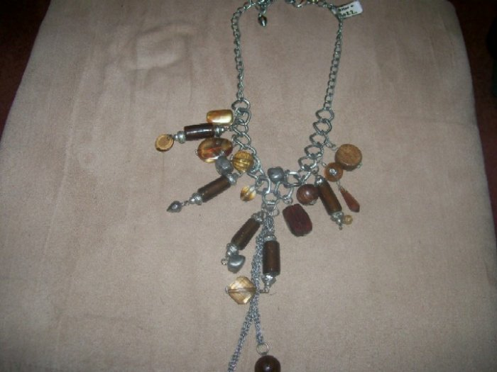 Gemstone and Silver Necklace