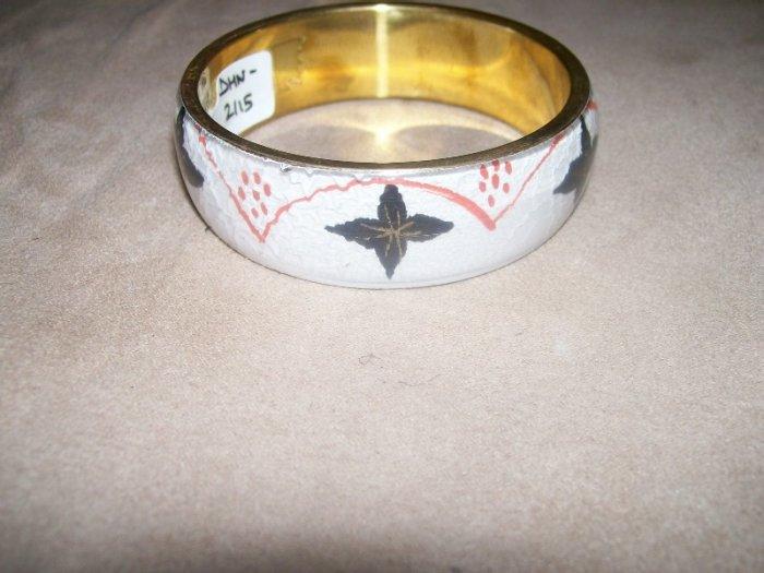 White Design Print Bracelet