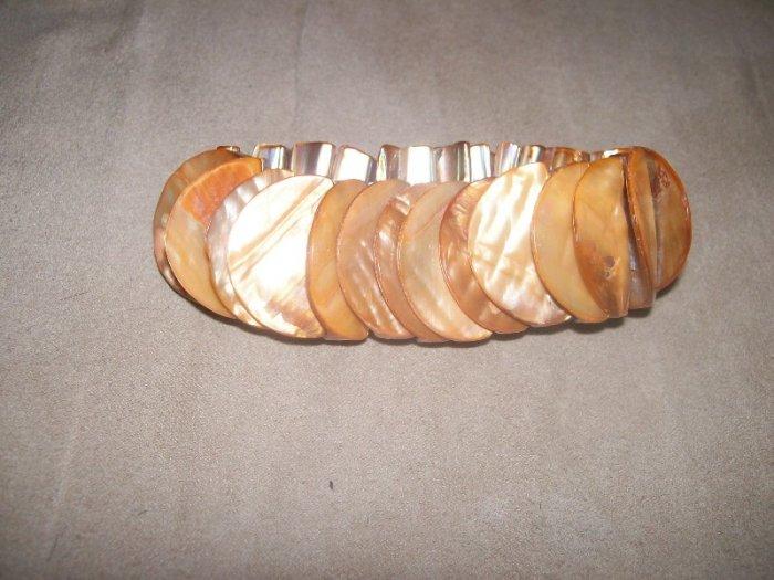 Tangerine Dream Shell Bracelet