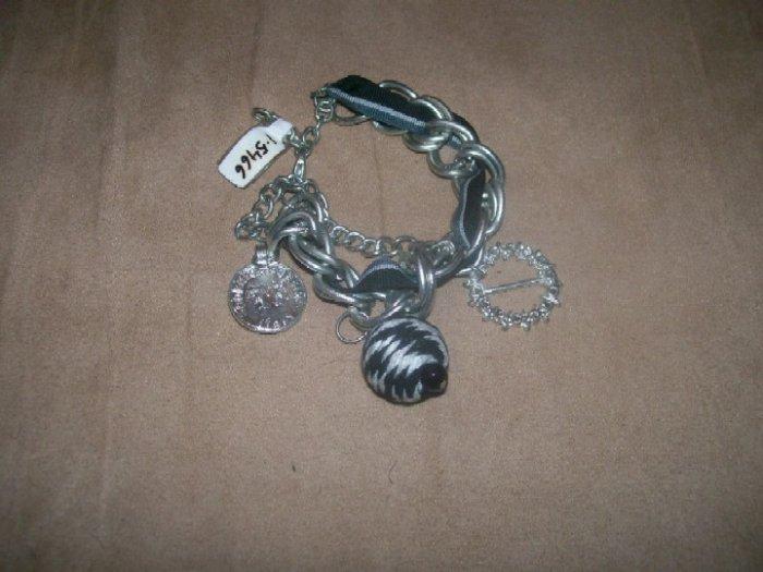 Black and Silver Charm Bracelet
