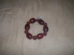 Dark Red wood bead bracelet