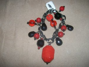 Red and Black bead bracelet