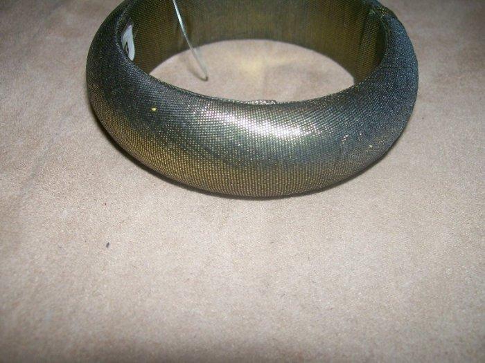 Gold Metallic fabric bracelet