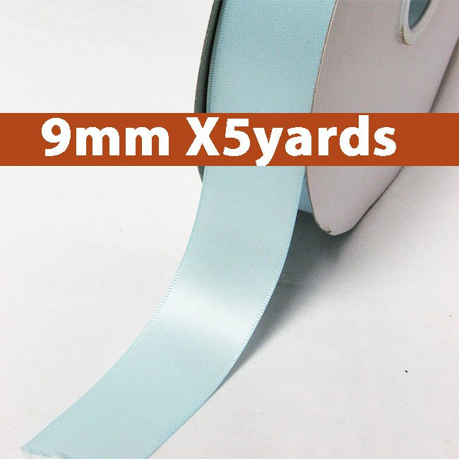 # 305 lt.blue Color 9mm Wide 5 Yards 5 Double Faced Satin Ribbon (#28800 X5 Yards)