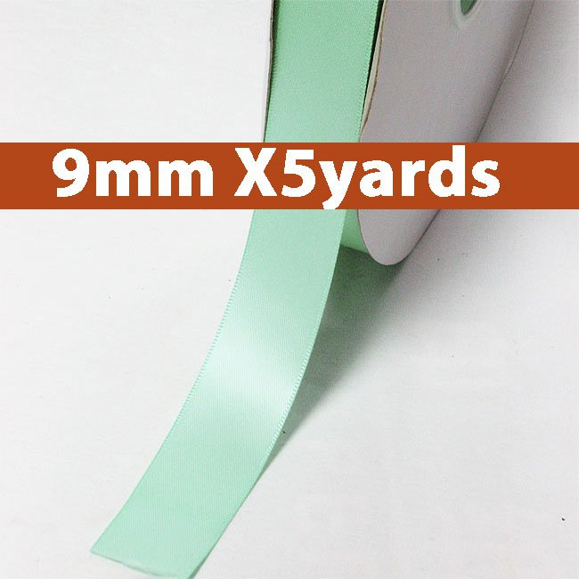 # 314 aqua Color 9mm Wide 5 Yards 5 Double Faced Satin Ribbon (#28800 X5 Yards)