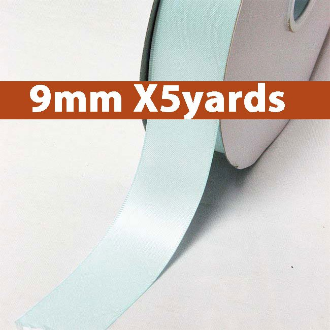 # 324 mineral ice Color 9mm Wide 5 Yards 5 Double Faced Satin Ribbon (#28800 X5 Yards)
