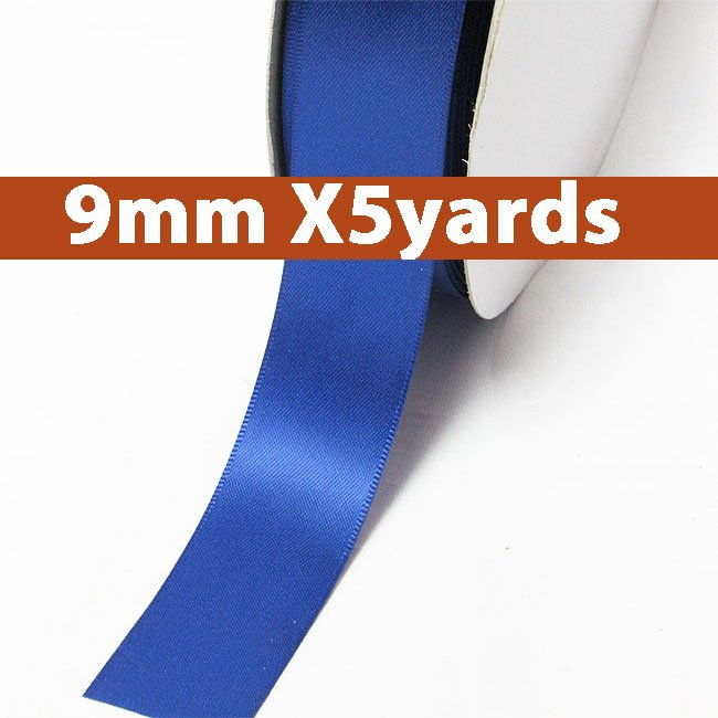 # 350 royal Color 9mm Wide 5 Yards 5 Double Faced Satin Ribbon (#28800 X5 Yards)