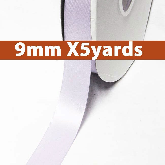# 420 lilac mist Color 9mm Wide 5 Yards 5 Double Faced Satin Ribbon (#28800 X5 Yards)