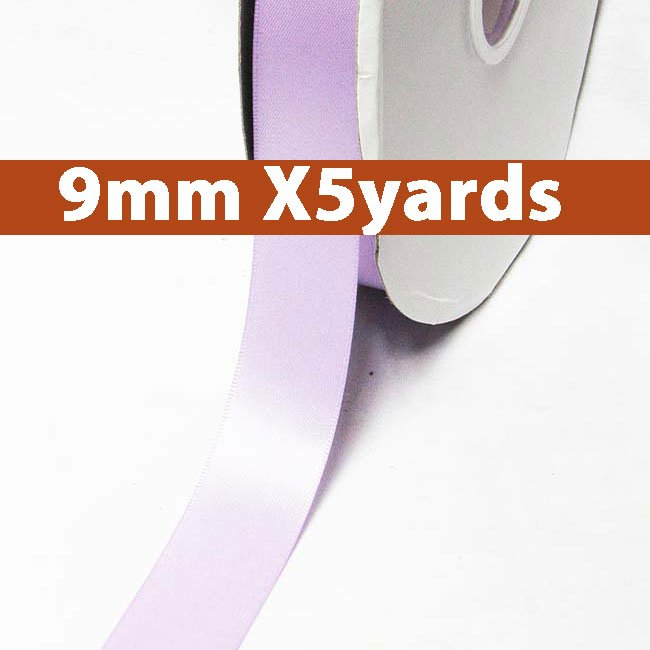 # 430 lt.orchid Color 9mm Wide 5 Yards 5 Double Faced Satin Ribbon (#28800 X5 Yards)