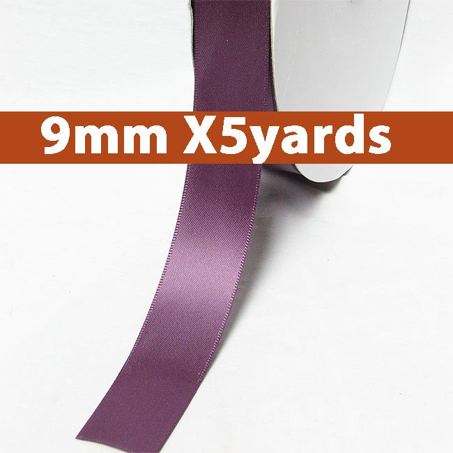 # 473 amethyst Color 9mm Wide 5 Yards 5 Double Faced Satin Ribbon (#28800 X5 Yards)