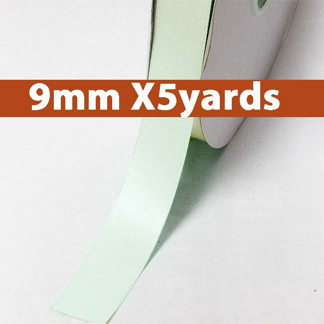 # 510 ice mint Color 9mm Wide 5 Yards 5 Double Faced Satin Ribbon (#28800 X5 Yards)