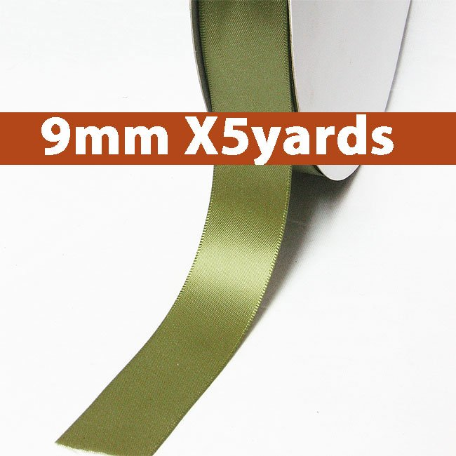 # 563 willow Color 9mm Wide 5 Yards 5 Double Faced Satin Ribbon (#28800 X5 Yards)