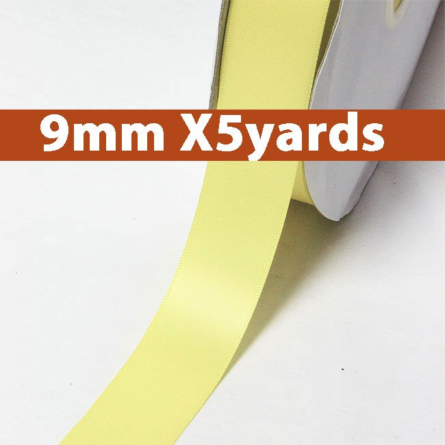 # 617 baby maize Color 9mm Wide 5 Yards 5 Double Faced Satin Ribbon (#28800 X5 Yards)