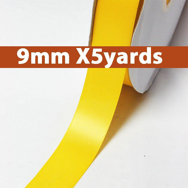 # 650 maize Color 9mm Wide 5 Yards 5 Double Faced Satin Ribbon (#28800 X5 Yards)