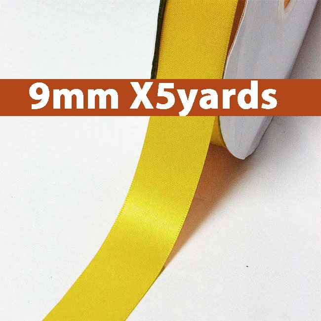 # 662 dandelion Color 9mm Wide 5 Yards 5 Double Faced Satin Ribbon (#28800 X5 Yards)