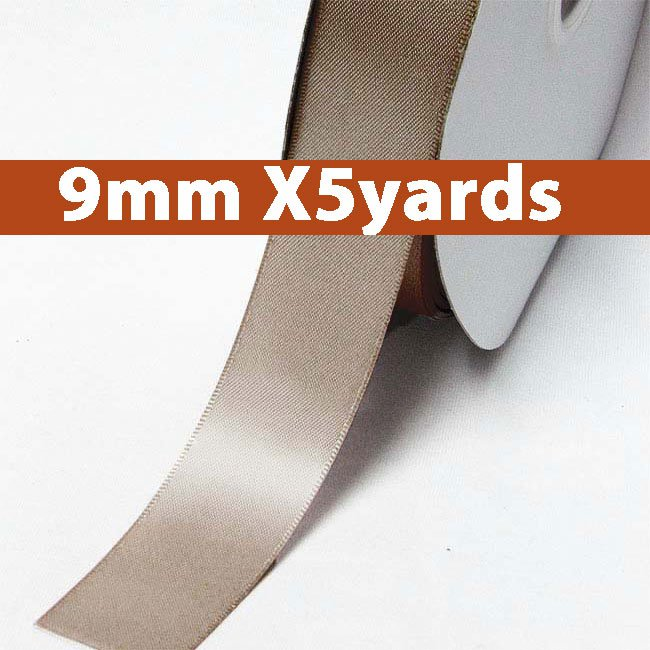# 814 ginger snap Color 9mm Wide 5 Yards 5 Double Faced Satin Ribbon (#28800 X5 Yards)