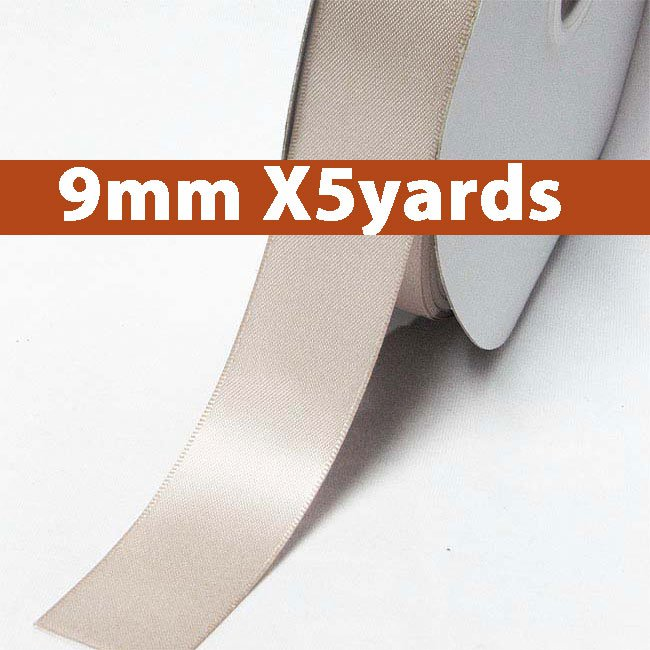 # 818 carmandy Color 9mm Wide 5 Yards 5 Double Faced Satin Ribbon (#28800 X5 Yards)