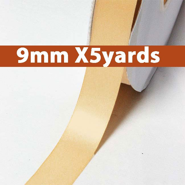 # 826 raw silk Color 9mm Wide 5 Yards 5 Double Faced Satin Ribbon (#28800 X5 Yards)