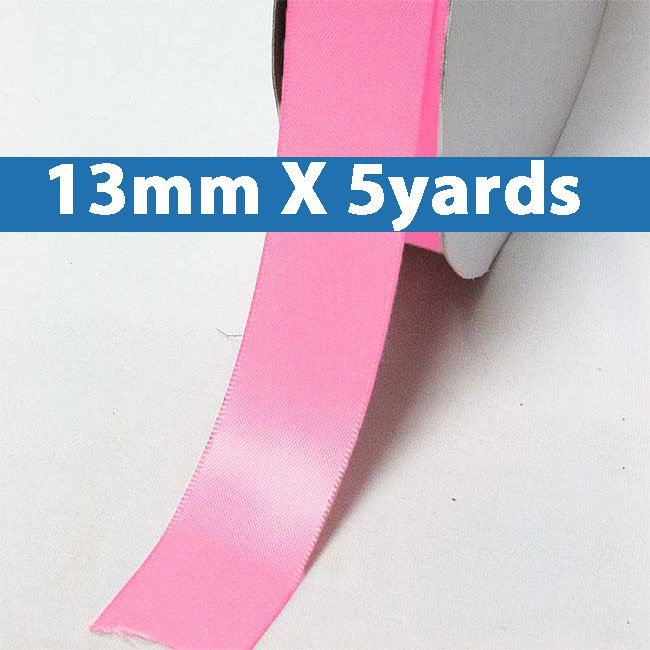 """# 159 passion fruit Color 13mm/0.5"""" Wide 5 Yards Double Faced Satin Ribbon (#28800 X5 Yards)"""