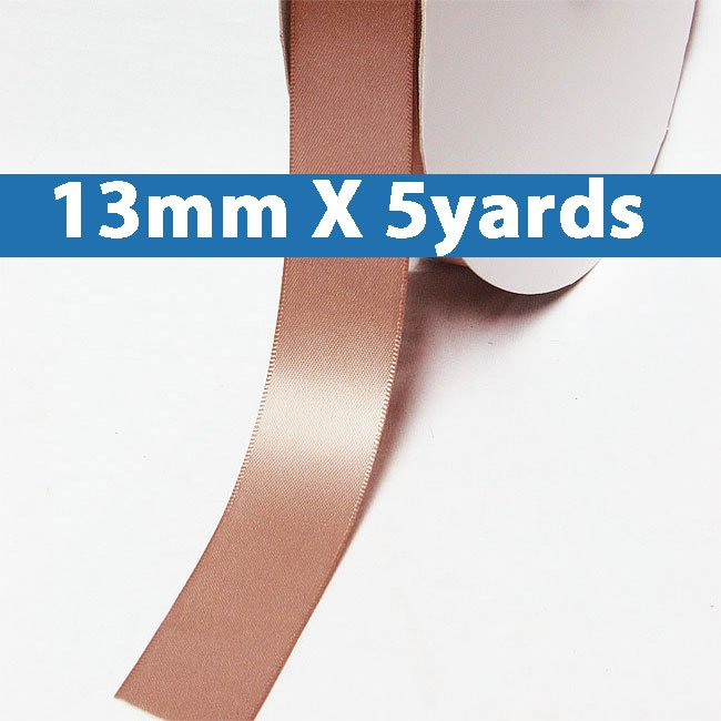"""# 161 sweet nectar Color 13mm/0.5"""" Wide 5 Yards Double Faced Satin Ribbon (#28800 X5 Yards)"""