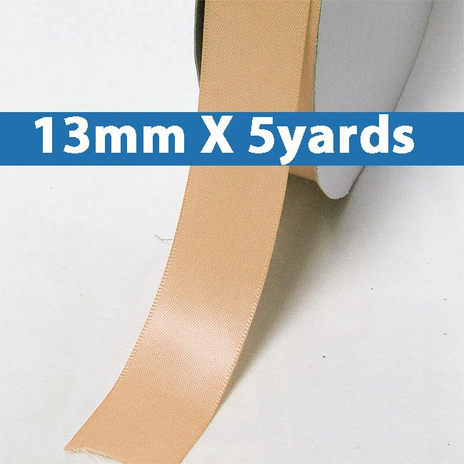 """# 203 moonstone Color 13mm/0.5"""" Wide 5 Yards Double Faced Satin Ribbon (#28800 X5 Yards)"""