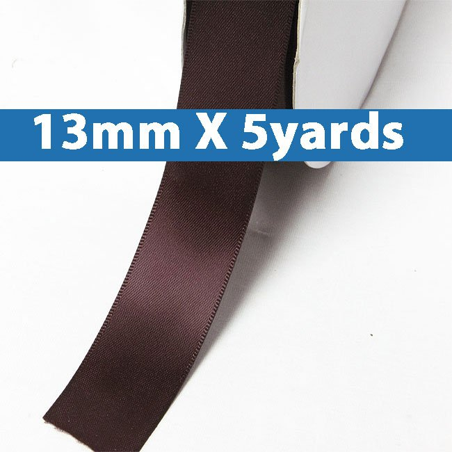 """# 277 burgundy Color 13mm/0.5"""" Wide 5 Yards Double Faced Satin Ribbon (#28800 X5 Yards)"""